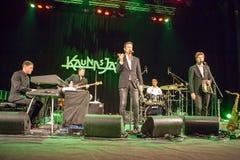 Quinteto de Till Bronner no jazz 2015 de Kaunas Imagens de Stock Royalty Free