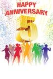 Quinto aniversário ilustração do vetor