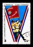 Quinto anniversario dei gruppi dei giovani operai, serie, circa 1978 Immagini Stock Libere da Diritti