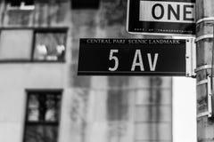 quinto Avenu, New York Fotografia Stock Libera da Diritti