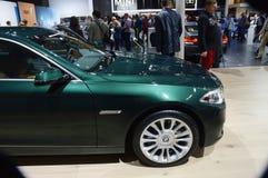 Quinto colore del Celadon di serie di BMW Lusso internazionale del salone dell'automobile di Mosca Fotografie Stock Libere da Diritti