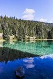 Quinto lago, vale dos 5 lagos, Jasper National Park, Alberta Fotografia de Stock