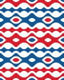 Quinto modello senza cuciture verticale blu rosso astratto di forma di Etpa Wave Immagini Stock