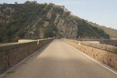 Quintos bridge. Esla river Zamora Spain. Stone and concrete Royalty Free Stock Images