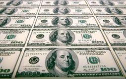 Quinze notas pela dignidade 100 dólares Foto de Stock Royalty Free