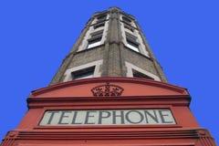 Quiosco de teléfono británico tradicional Fotos de archivo