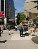 Quiosque de informações turísticas em New York City, EUA Imagem de Stock
