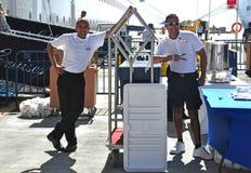 Équipage de bateau de croisière Photos libres de droits