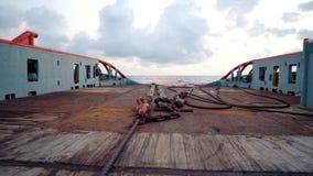 ?quipage de navire pr?parant le navire pour le levage statique de bateau-citerne de remorquage clips vidéos