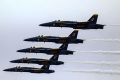 Équipe acrobatique aérienne d'affichage d'anges bleus Image libre de droits