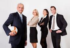 Équipe concurrentielle intense d'affaires Photo stock