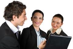 Équipe d'affaires lors du contact Image libre de droits