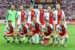 ?quipe de football de la Pologne photo libre de droits