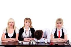 Équipe ennuyeuse d'affaires Image libre de droits