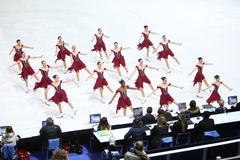 Équipe Etats-Unis un avec des juges Photo libre de droits