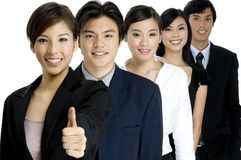 Équipe heureuse d'affaires Photo stock