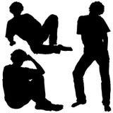 Équipe les silhouettes 01 Images libres de droits