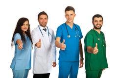 Équipe réussie des médecins Images libres de droits
