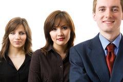 Équipe réussie heureuse d'affaires. Photo libre de droits