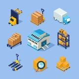 Équipement d'entrepôt de vecteur Photo stock