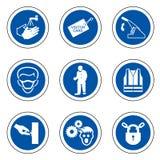 ?quipement de protection personnel requis ( ; PPE) ; Symbole, ic?ne de s?curit?, illustration de vecteur illustration stock