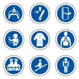 ?quipement de protection personnel requis ( ; PPE) ; Symbole, ic?ne de s?curit?, illustration de vecteur illustration de vecteur