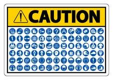 ?quipement de protection personnel requis ( ; PPE) ; Symbole, ic?ne de s?curit?, llustration de vecteur illustration libre de droits