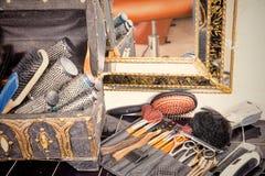 Équipement de salle de cheveux Photos stock