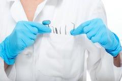 Équipement dentaire dans la poche Image libre de droits