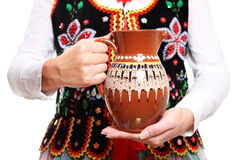 Équipement polonais et la cruche Photo stock