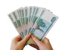 ?quipez compter l'argent, le concept d'?conomie, affectation d'argent Mains donnant l'argent d'isolement sur le fond blanc photo libre de droits