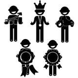 Équipez les affaires de base d'habillement de signe d'icône de personnes de posture Images libres de droits