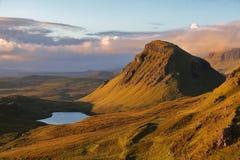 Quiraing斯凯岛海岛,苏格兰 库存照片