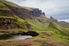 Quiraing,斯凯岛,苏格兰小岛  免版税库存照片