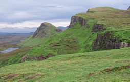 Quiraing, île de Skye, Ecosse Photo libre de droits