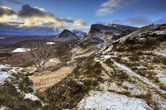 Quiraing, остров Skye, Шотландии Стоковые Фото