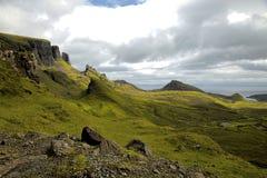 Quiraing auf Insel von skye, Schottland Lizenzfreie Stockfotos