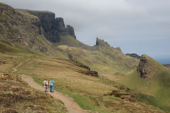 Quiraing, Eiland van Skye Stock Foto