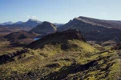 Quiraing, Insel von Skye, Schottland stockfotografie