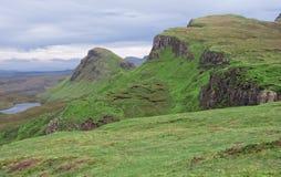 Quiraing, Insel von Skye, Schottland Lizenzfreies Stockfoto