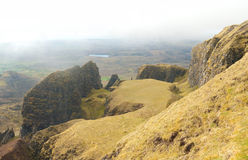Quiraing at the Isle of Skye Royalty Free Stock Photography