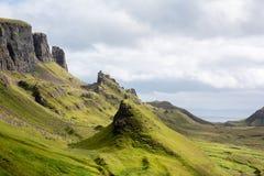 The Quiraing, Isle of Skye Scotland. The Quiraing on the Isle of Skye in Scotland. This forms part of the spectacular Trotternish ridge Stock Photos