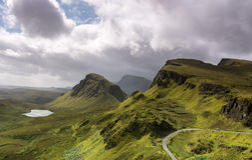 The Quiraing, Isle of Skye Scotland Stock Photography