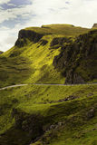 Quiraing on isle of skye, Scotland Royalty Free Stock Image