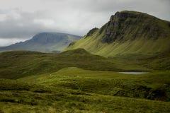 Quiraing on isle of skye, Scotland Stock Image