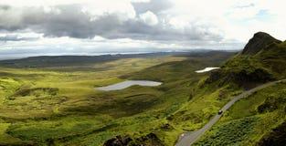 Quiraing on isle of skye, Scotland Stock Photography