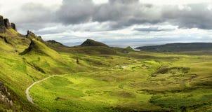 Quiraing on isle of skye, Scotland Royalty Free Stock Image