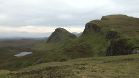 Quiraing, Isle of Skye, Scotland stock video footage