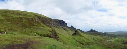 Quiraing on Isle of Skye in Scotland Stock Image
