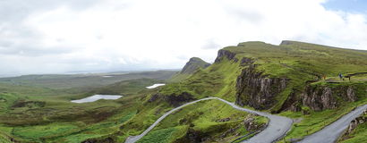 Quiraing on Isle of Skye in Scotland Stock Images